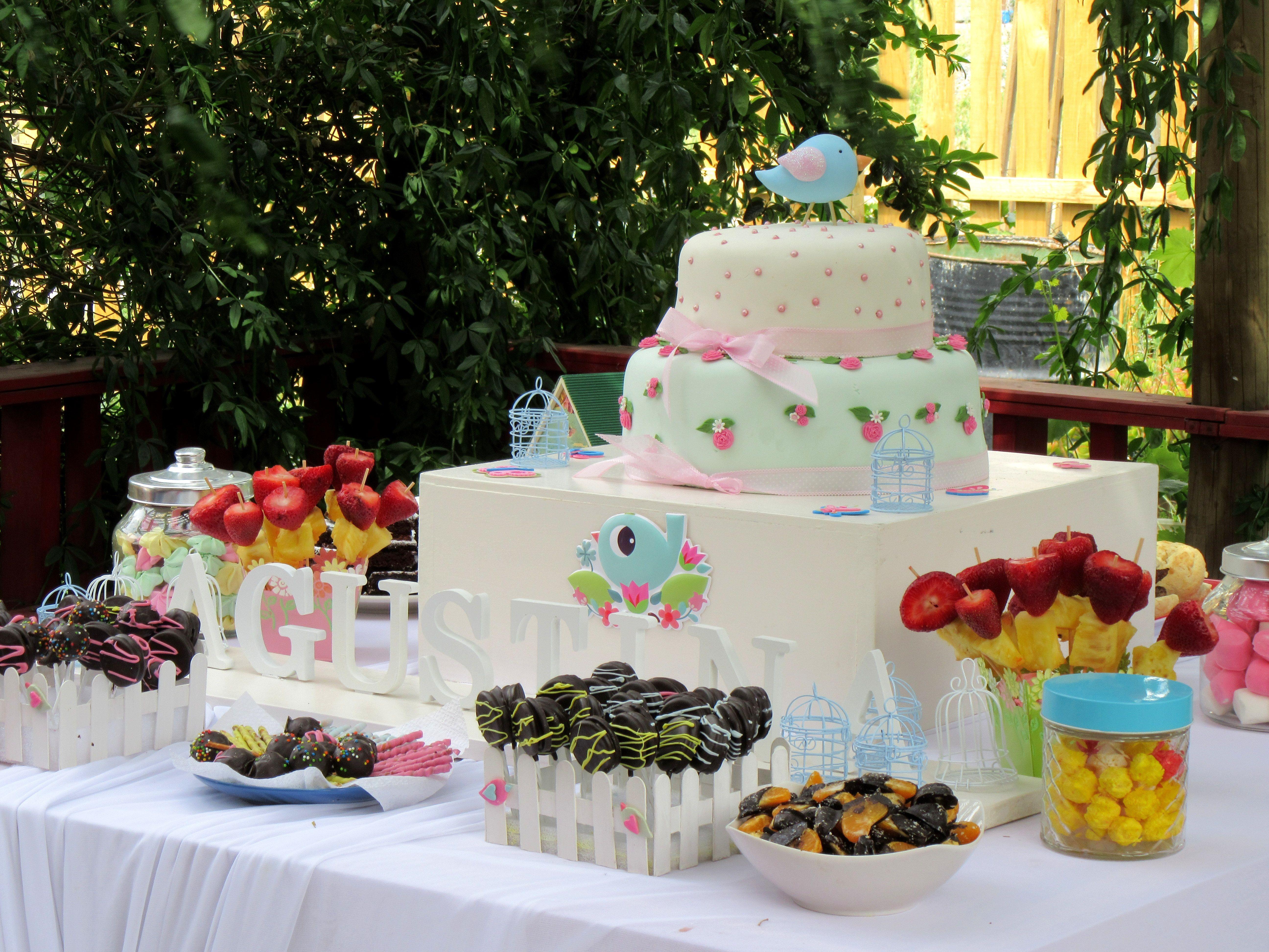 Fiesta de pajaritos bird party mesa de dulces estilo - Mesa shabby chic ...