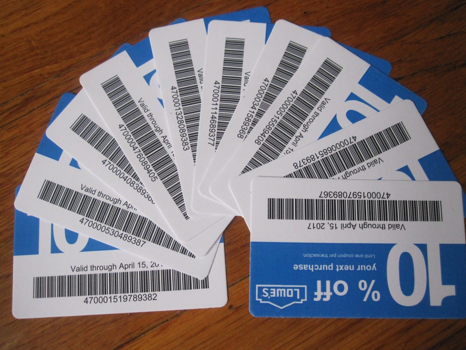10 LOWES f coupons MAY 15th Use at HOME DEPOT