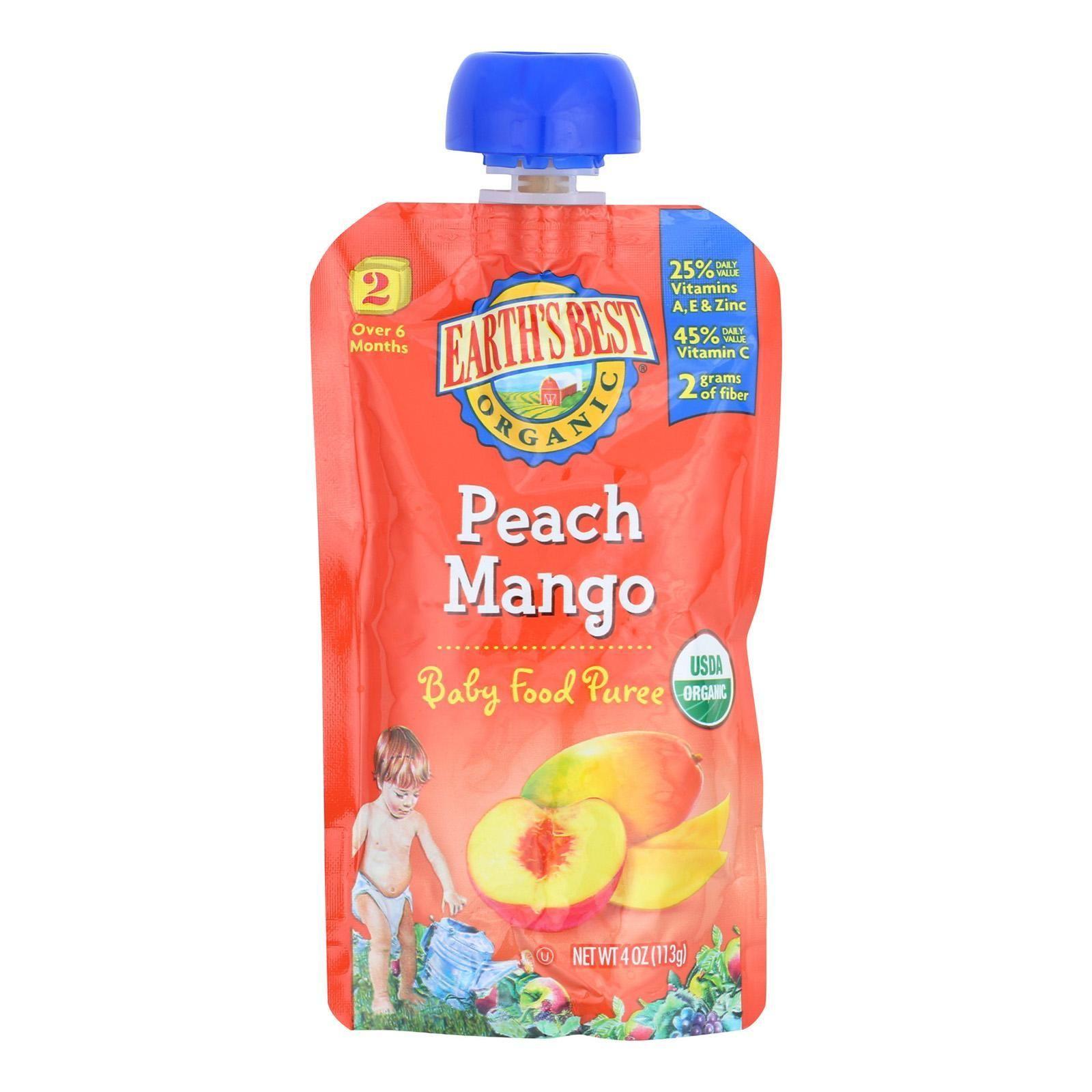 Earths best organic peach mango baby food puree stage 2
