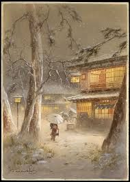 Image result for japanese woodblocks, winter scenes