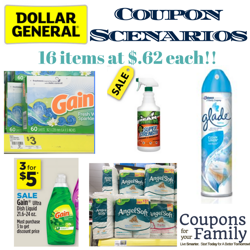 Dollar General Coupon Scenario Today Only W All Dg Digital Coupons 7 Laundry Items For 1 17 Each Dollar General Couponing Dollar General Digital Coupons Dg Digital Coupons