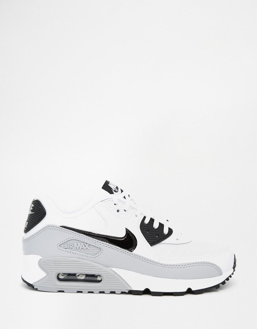 premium selection f05c8 1d65d Nike | Nike Wolf Grey Air Max 90 Essential Trainers at ASOS ...