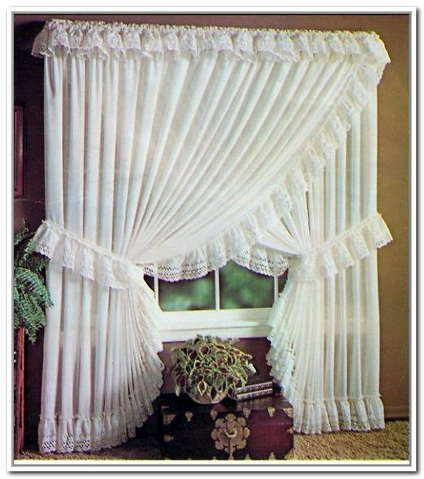 Sheer Priscilla Criss Cross Curtains