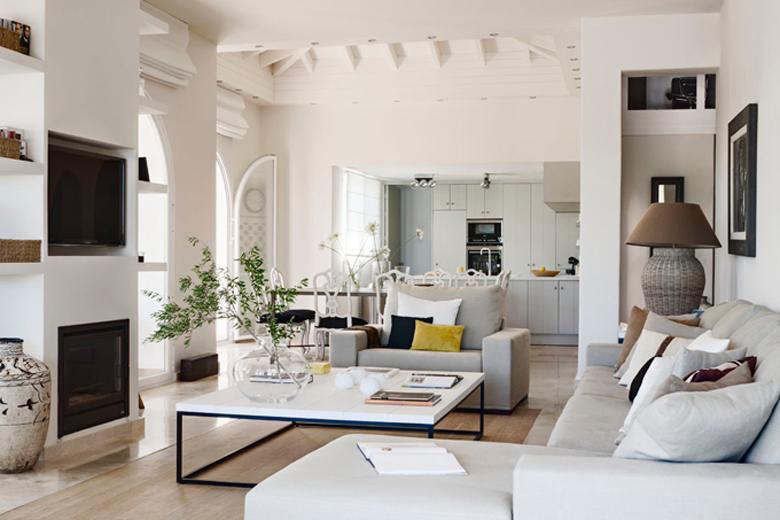 Cocina abierta al salon casa en 2019 cocinas abiertas for Cocina abierta en salon area pequena
