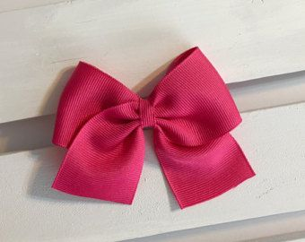 Hot Pink Hair Bow Clip In