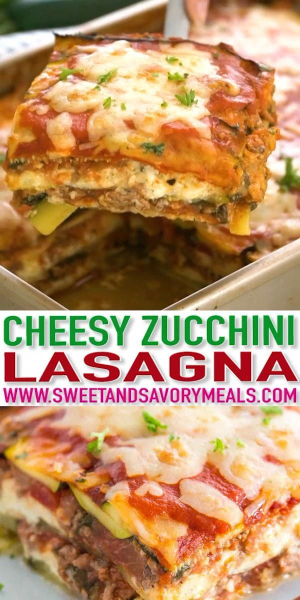 Zucchini Lasagna is a delicious recipe that is also low carb, Keto and gluten-free. Made with zucchini instead of pasta, and loaded with vegetables, which is also healthier than traditional lasagna.