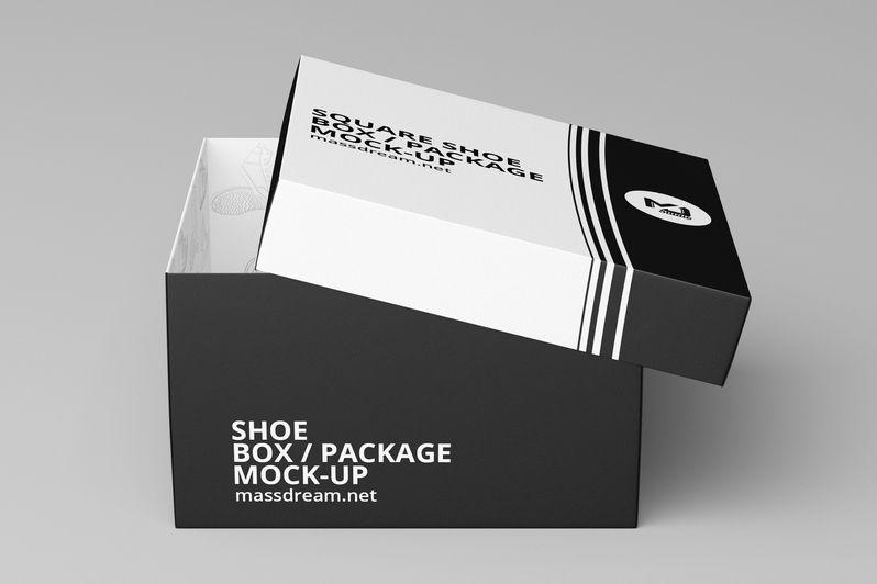 Download Square Shoe Box Mock Up Free Design Resources Ressources