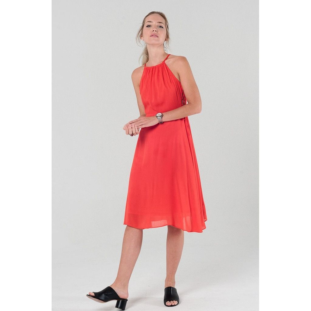 Side lace up dress with open back in red products pinterest
