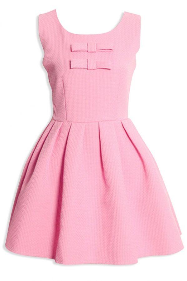 Sweet Bow Deco Princess Sleeveless A-Line Mini Dress - OASAP.com