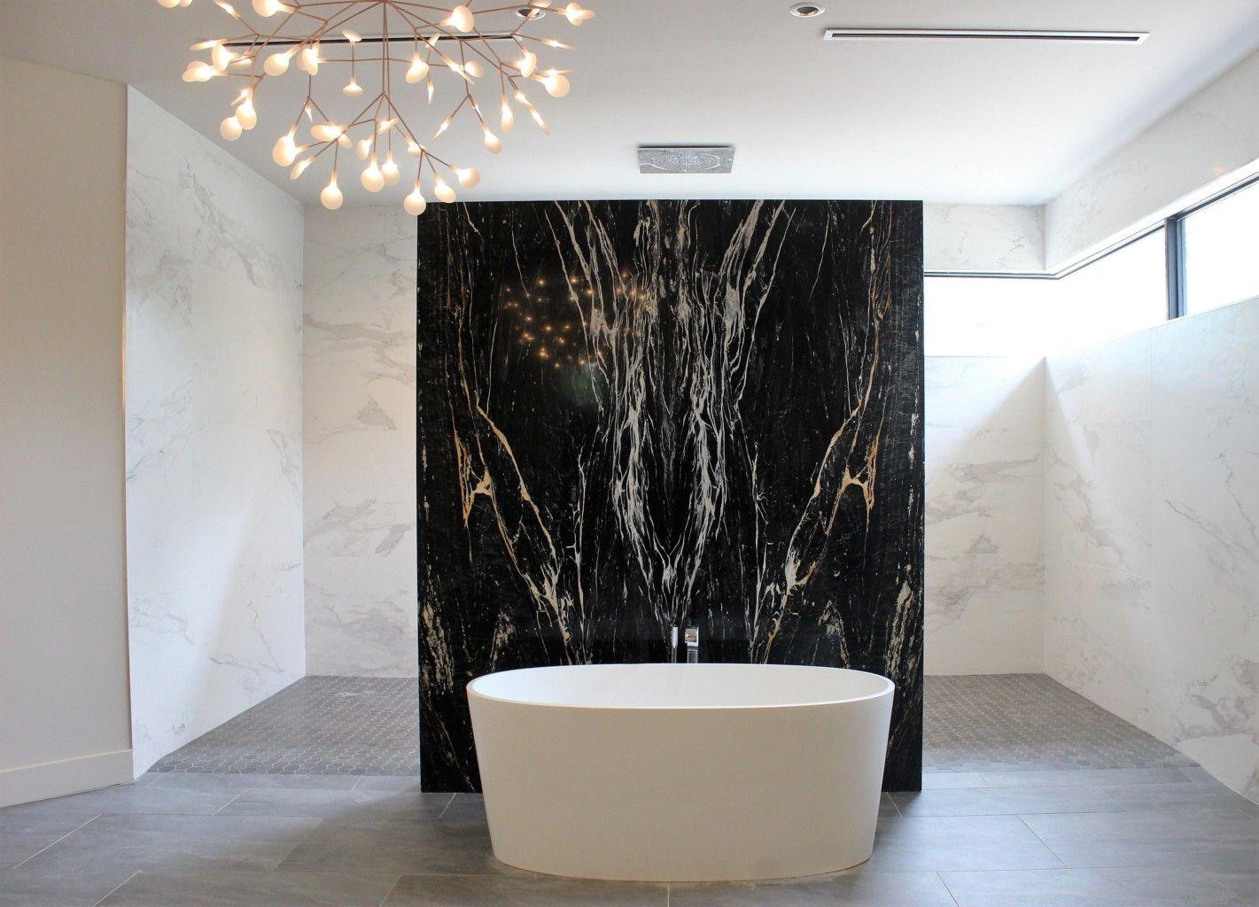 Zebrino Black And Gold Marble Bathroom Feature Wall Bathroom Feature Wall Stone Feature Wall Black Bathroom