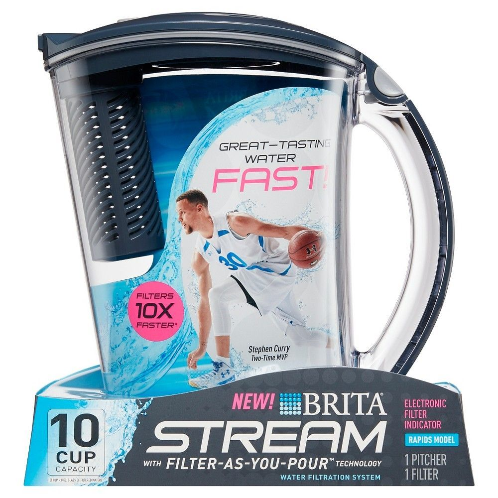 Brita Large 10 Cup BPA Free Stream Filter as You Pour Water