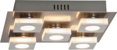 Brilliant Transit LED Wand- und Deckenleuchte, 5-flammig nickel/alu Jetzt bestellen unter: https://moebel.ladendirekt.de/lampen/deckenleuchten/deckenlampen/?uid=109acb63-397f-5d66-aca0-cc217ee217c5&utm_source=pinterest&utm_medium=pin&utm_campaign=boards #deckenleuchten #heim #lampen #deckenlampen