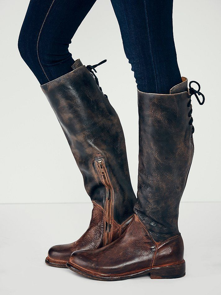 1f9d503e28ae Bed Stu Free People Manchester II Tall Boots Black Rustic Teak Rustic  Vintage  BedStu  CowboyWestern