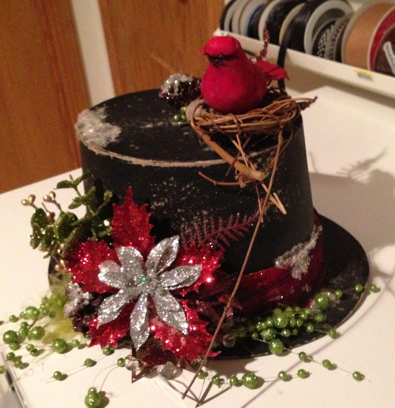 Snowman hat. Holiday crafts christmas, Christmas decor diy