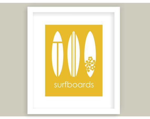 Surfboard Wall Art, Surfing Decor, Surf Board, Surf Style, Beach ...