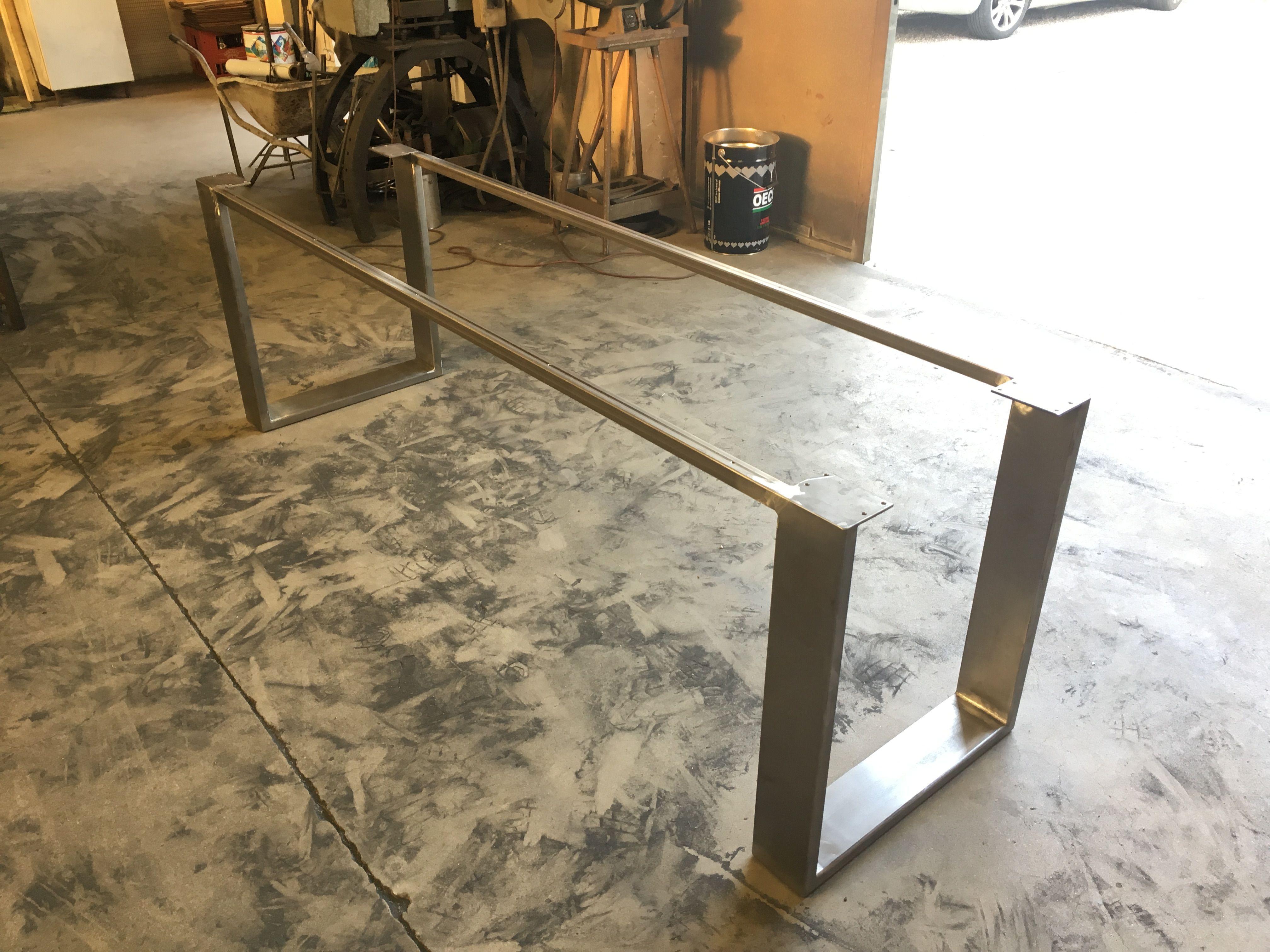 Basamenti Per Tavoli In Cristallo.Base Tavolo In Ferro Ideale Per Piani In Vetro O In Legno Design