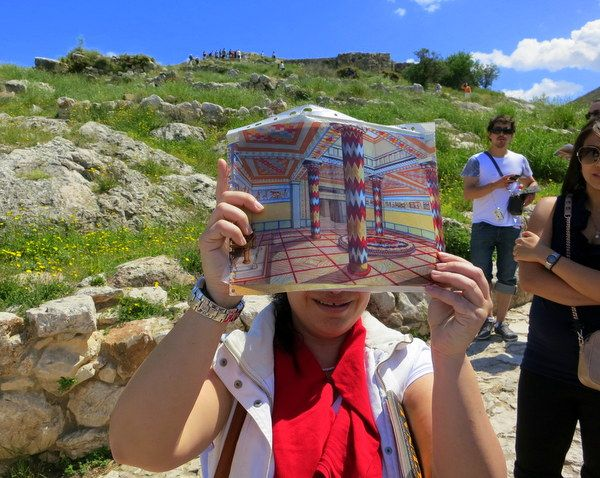 The ancient, vibrant colors of the temple at Mycenae, Greece have been lost. Click to read why changing your name after marriage is similar!