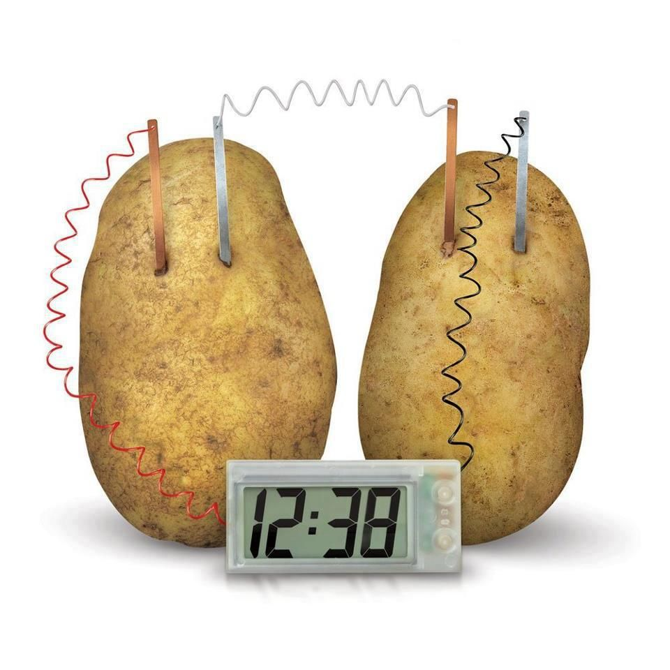 Potato Battery Can Be Used To Power An Alarm Clock The Diagram How Make A Creates Electrochemical