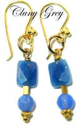 Agate jewelry is a pair of agate earrings