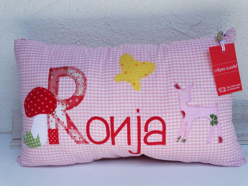 Fliegenpilz Kinderzimmer ~ Crepessuzette namenskissen rosa fliegenpilz kissen name dekokissen