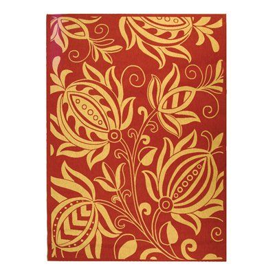 Safavieh CY2961-3707 Courtyard Area Rug, Red / Natural