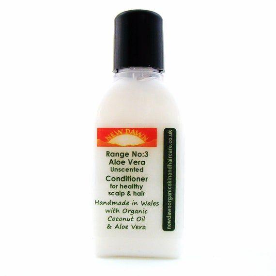Aloe Vera Organic Hair Conditioner ~ Unscented for Sensitive Skin ~ Organic Hair Care for Sensitive Scalp ~ Vegan
