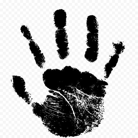 Hd Black Baby Hand Print Clipart Png Baby Handprint Clip Art Baby Hands