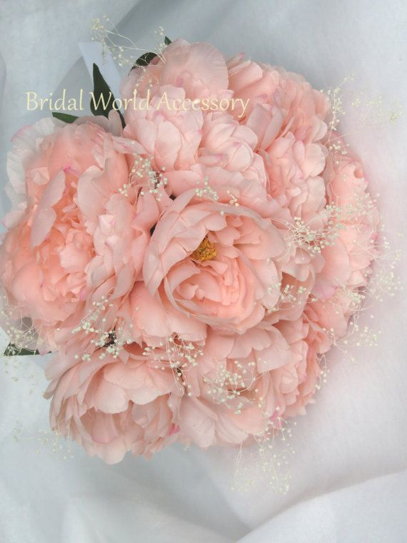 Wedding accessory wedding bridal bouquet silk flowers peony pink wedding accessory wedding bridal bouquet silk flowers peony pink peony bridal accessory mightylinksfo