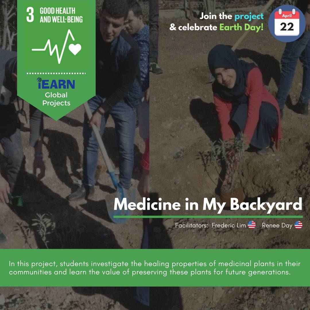 Join the iEARN Global Project 'Medicine in My Backyard