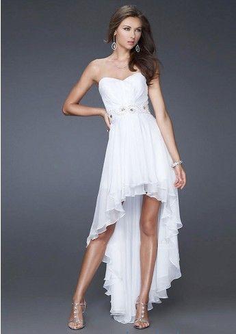 prom dresses, Slinky A-Line Sweeetheart-Neck Strapless Chiffon Short ...