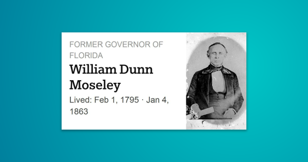 William Dunn Moseley Was An American Politician A Democrat And