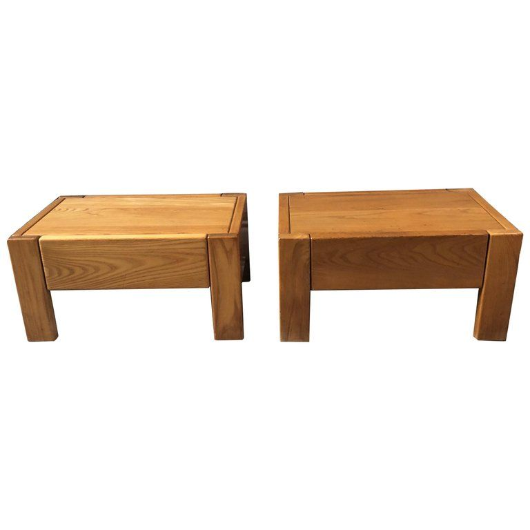 Pair Of Nightstand By Pierre Chapo With Images Step Stool End