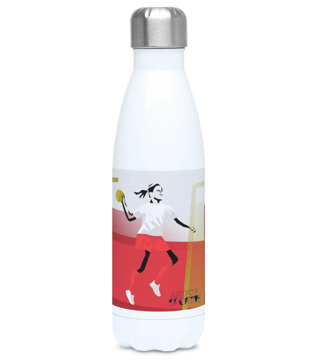Woman handball water bottle gift to personalise for a girl handball player or handball coach for handball Christmas gift or birthday gift