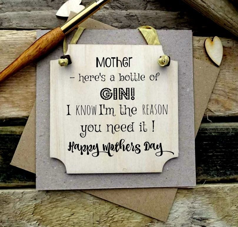 Funny Mother S Day Plaque Wooden Greeting Card Card Gift Wood
