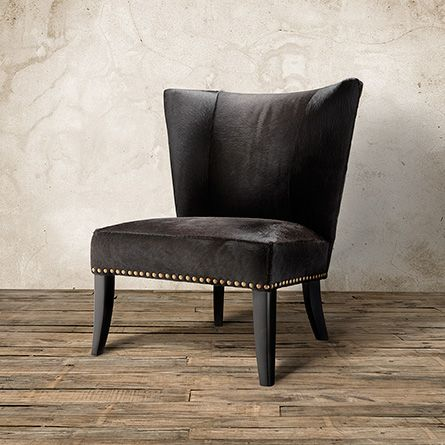 Armless Leather Chairs holden leather armless chair in brindle angus | arhaus furniture