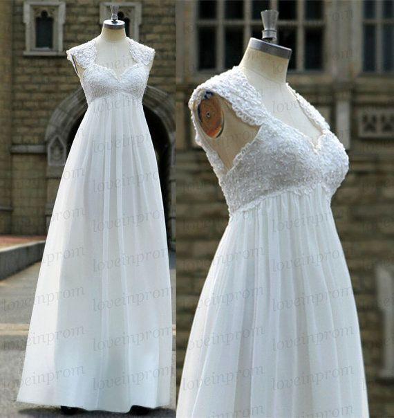 Weiß/Ivory Brautkleid handgemachte von loveinprom auf Etsy ...
