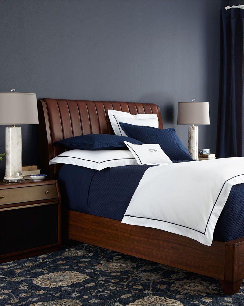 neiman marcus bedroom furniture. New Horchow \u0026 Neiman Marcus Longfellow Queen Brown Leather Upholstered Bed Wood Bedroom, Ralph Lauren Bedroom Furniture