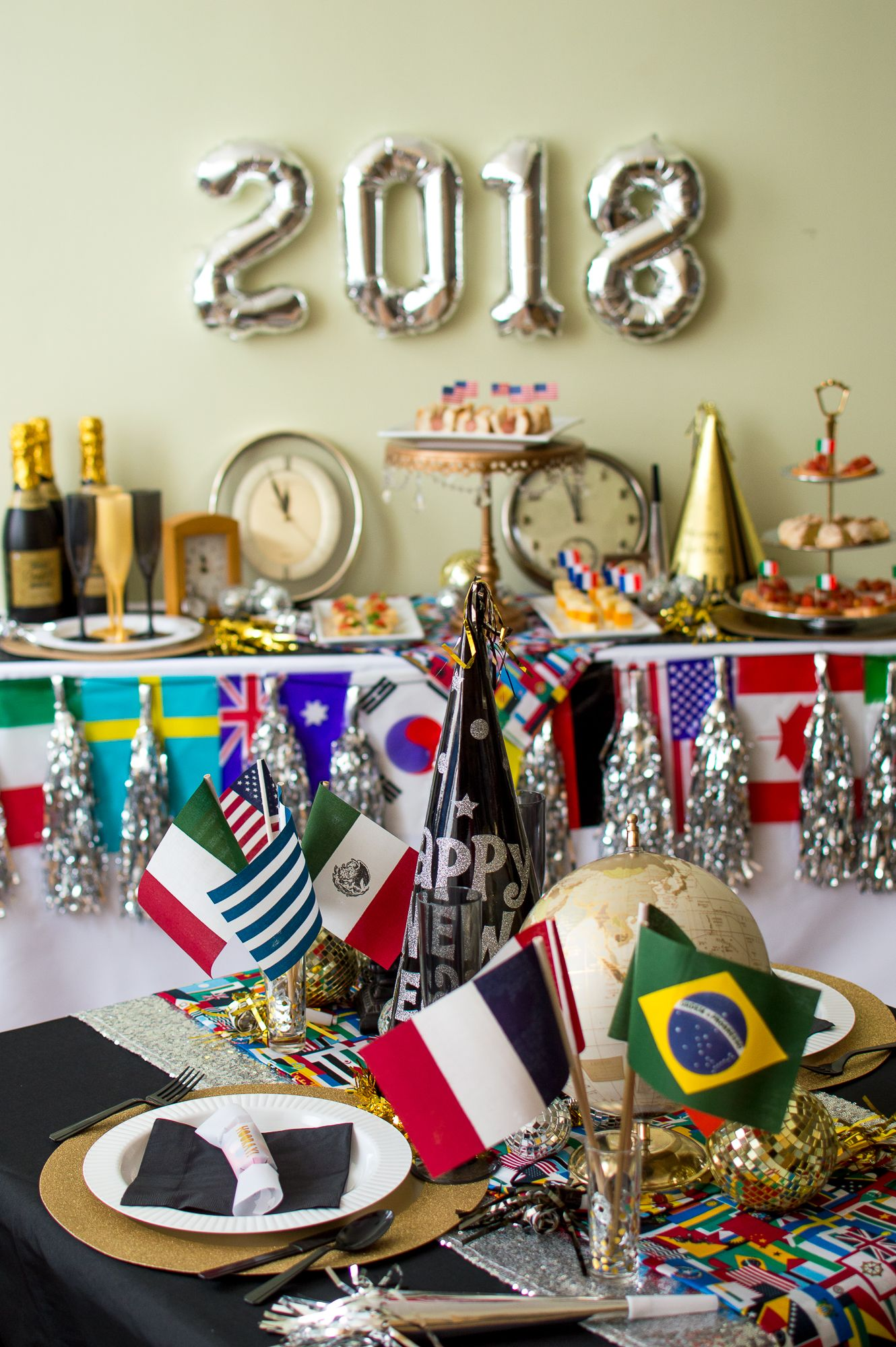 Around The World Nye Party Nye Party Decorations New Year S Eve Around The World Nye Party