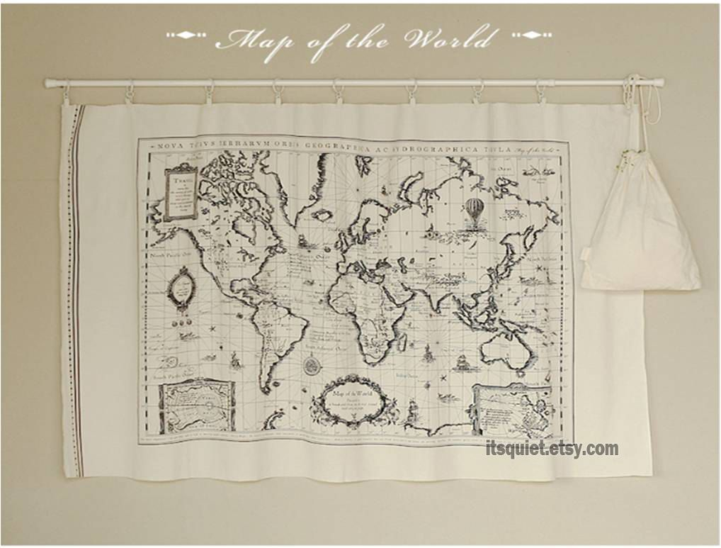 Cotton linen fabric world map fabric map of the world travel map cotton linen fabric world map fabric map of the world travel map gumiabroncs Image collections