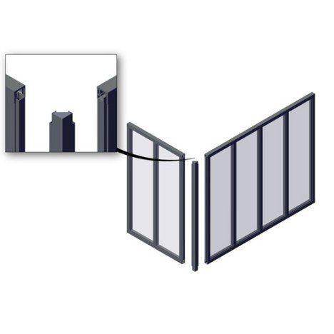 Poteau Dangle Pour Verrière En Kit Aluminium Gris Leroy