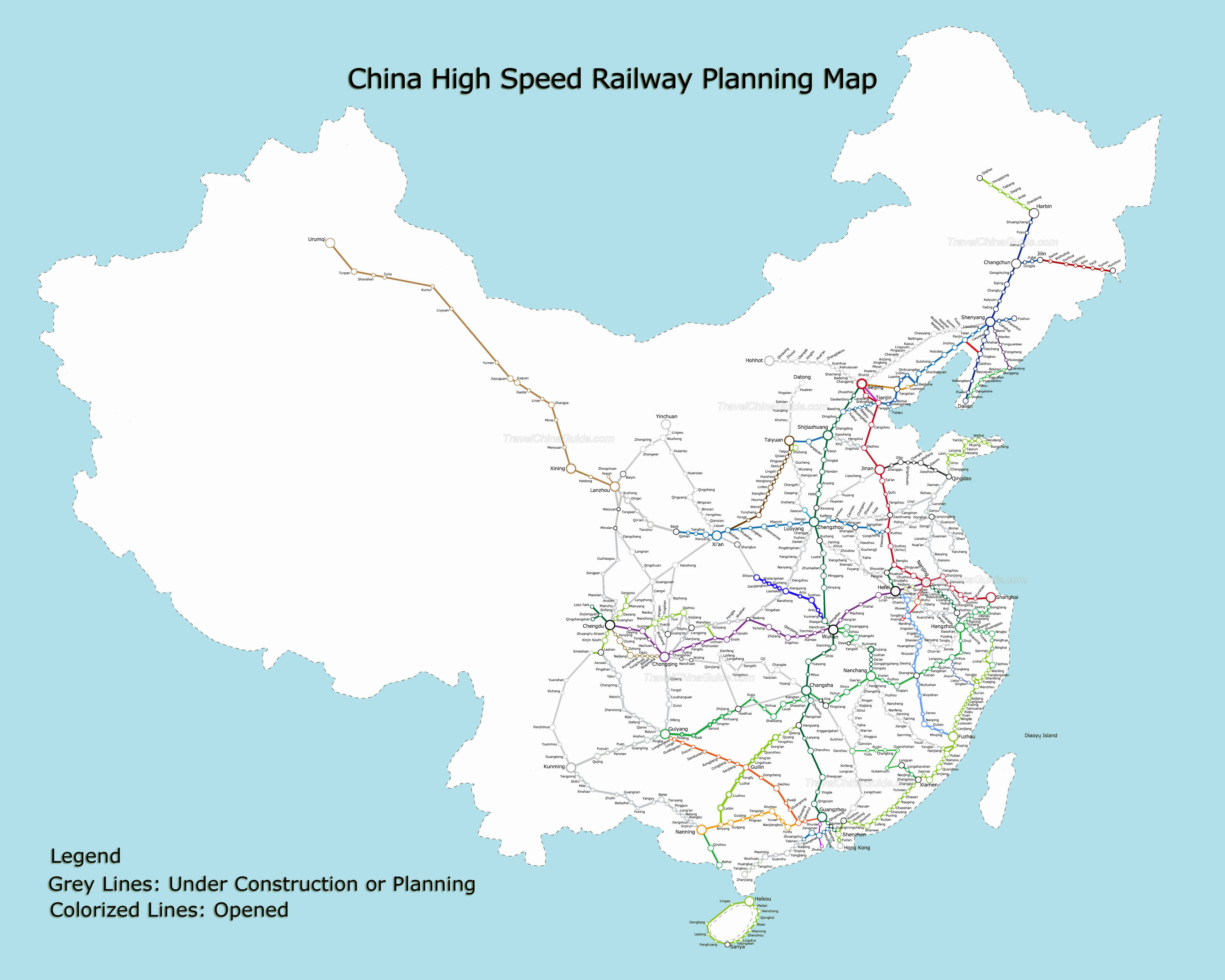 China high speed railway planning map | High speed trains in China ...