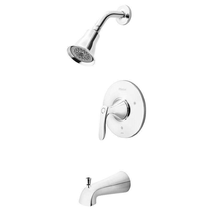 Weller 1 Handle Thermostatic Tub And Shower Faucet With Trim Tub And Shower Faucets Shower Faucet Shower Tub