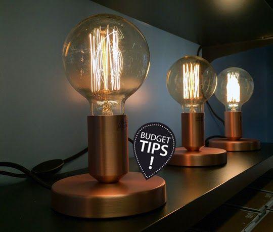 Snygg stilrenlampa för en spottstyver base från clas ohlson för 99 kr www