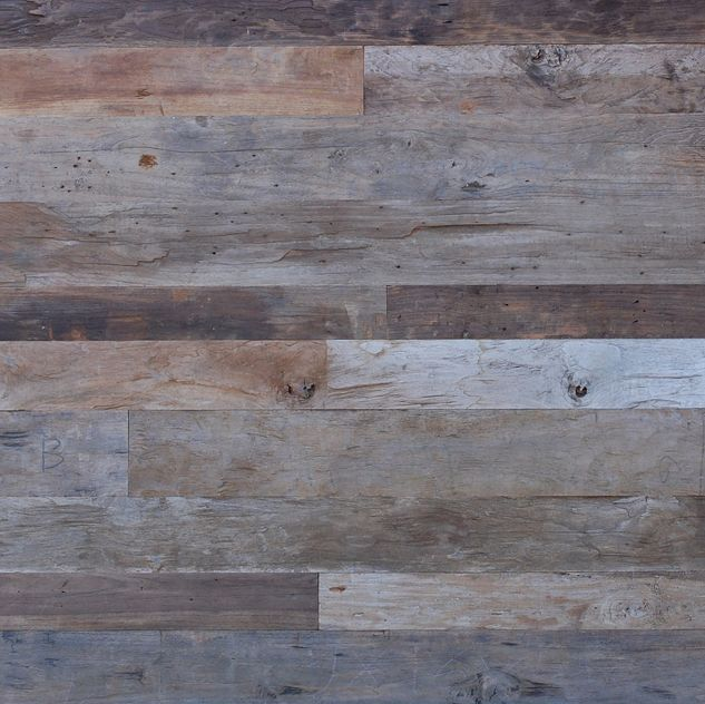 For master bath reclaimed weathered teak flooring