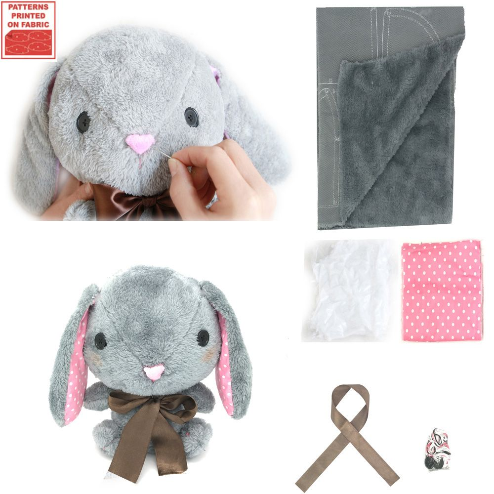 fb5ee27a10ec sale make your own soft toy amuse pote usa loppy bunny sewing kit diy plush  rabbit present for #free #sewing #patterns