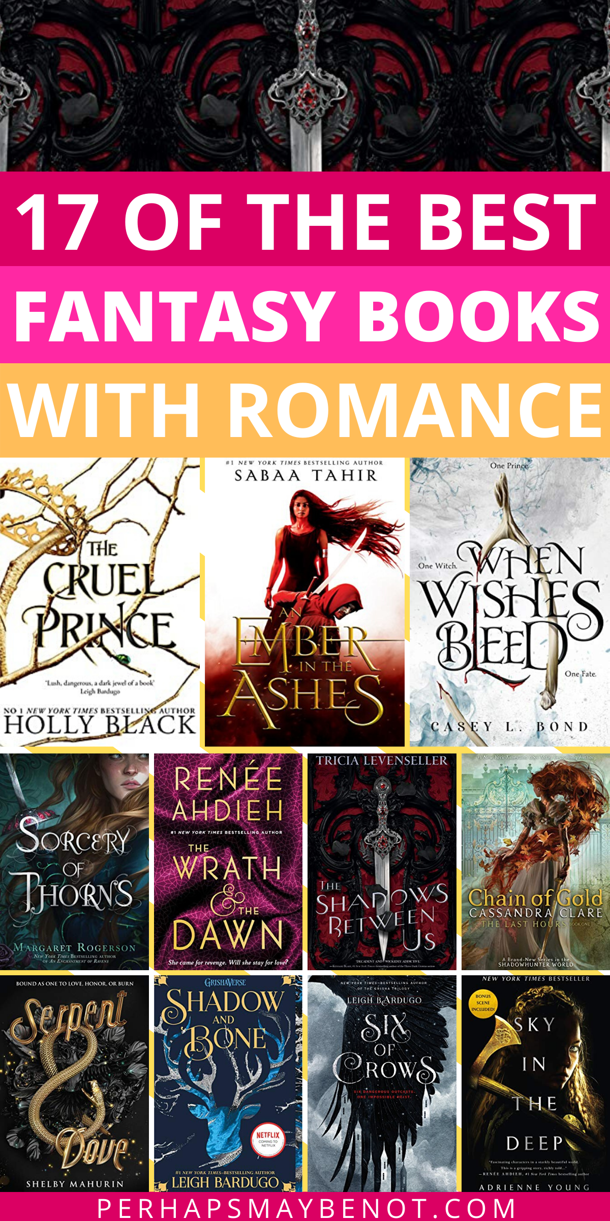 If you're in the mood for some fantasy with a splash of romance, you'll love these exciting and magical books. #fantasybooks #romancebooks #fantasyromance #bookstoread #booksworthreading #bestbooks