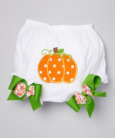 Another great find on #zulily! Orange Pumpkin Appliqué Diaper Cover - Infant #zulilyfinds