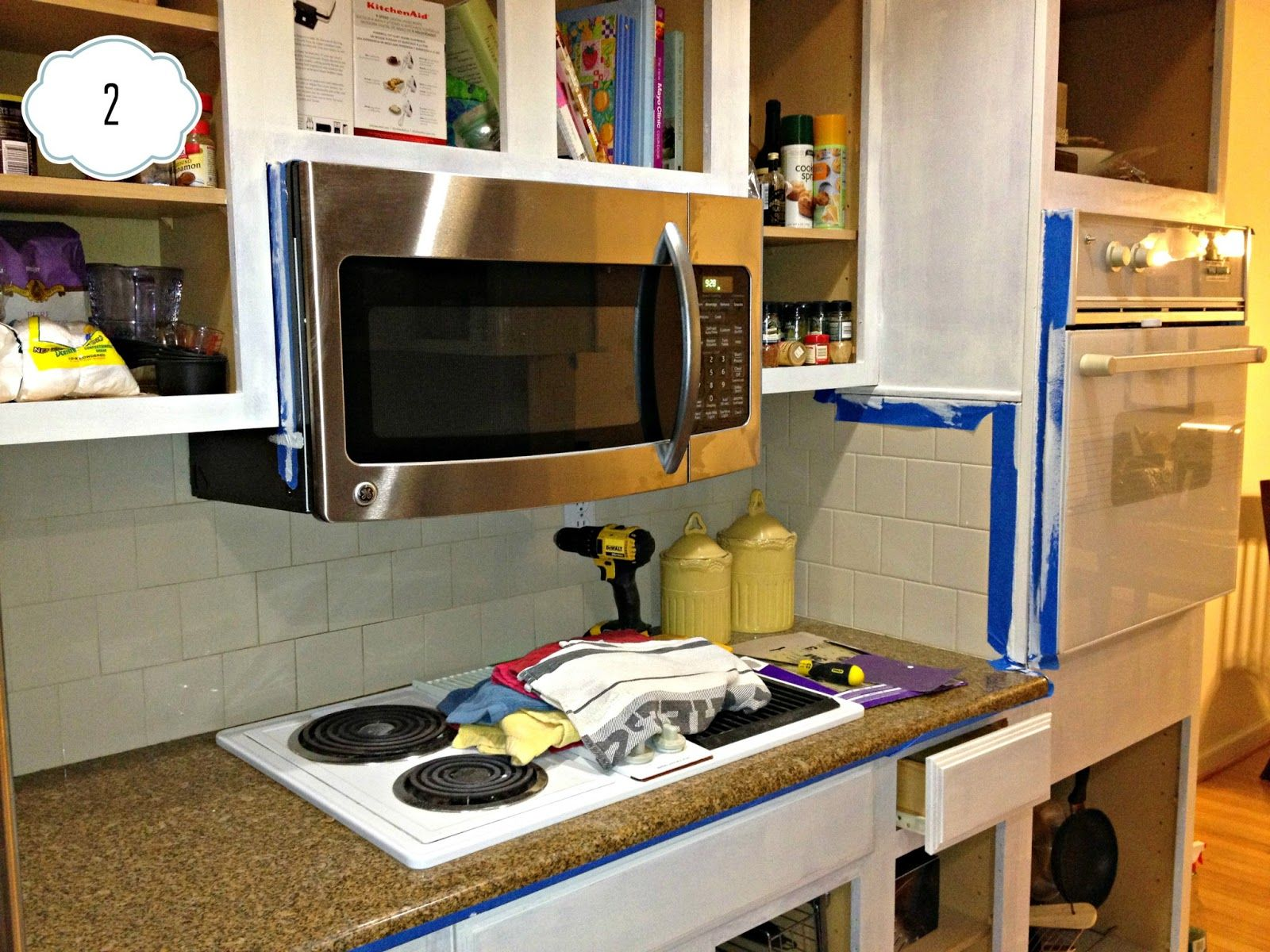 Inspired Wives: How to Paint Kitchen Cabinet Frames