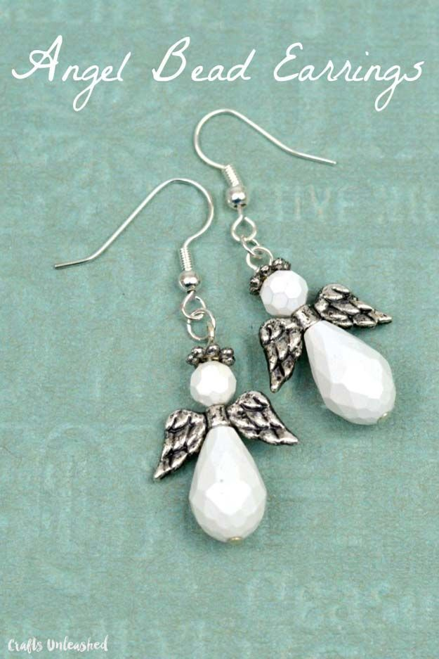 DIY Earrings and Homemade Jewelry Projects - Angel Bead Earrings ...