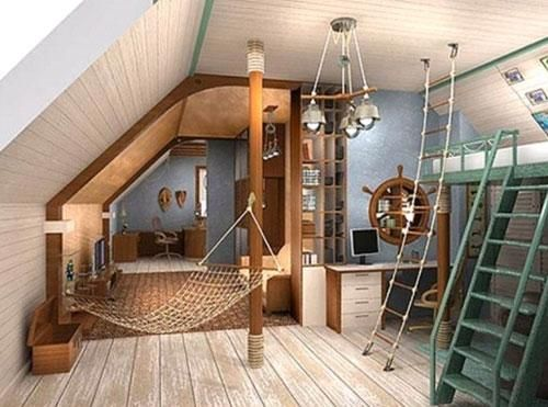 Amazing Children Bedroom Designs with Marine Ocean Theme without Using Ship-Shaped  Beds